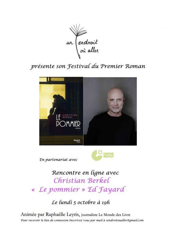 Christian Berkel to discuss LE POMMIER with Raphaëlle Leyris (Festival du Premier Roman)